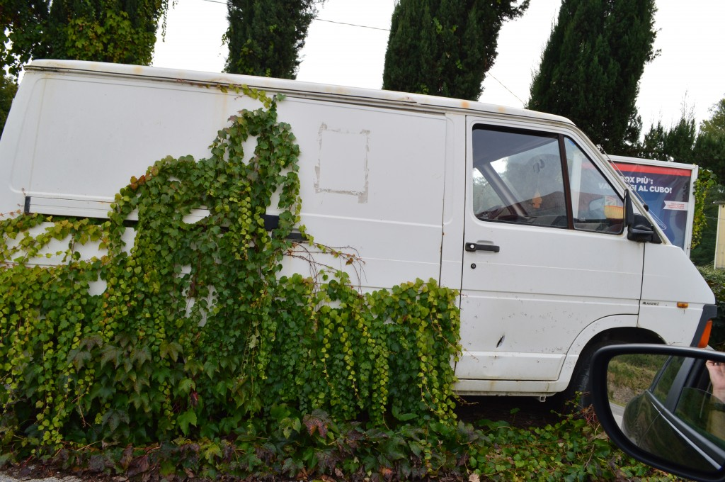 Van outside of Florence, Italy.
