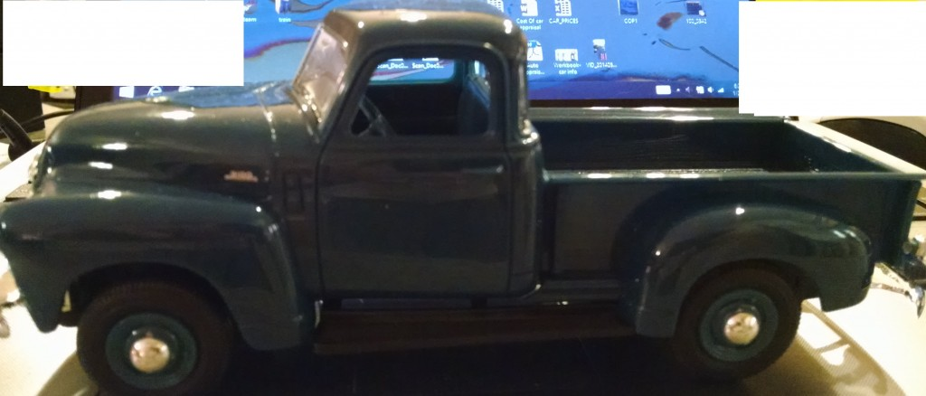 Here is a 1950 Chevy Pickup.  Supposedly a dealer promo.