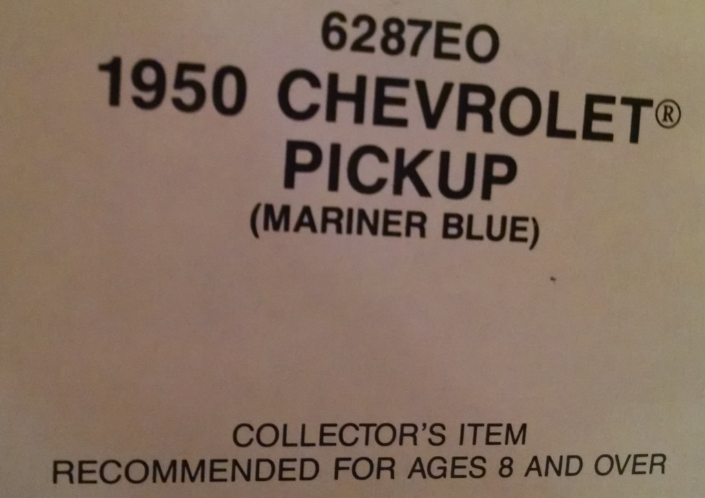 It's in a newer box with warning on it...not something printed on toys back in 1950.